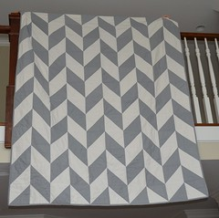 Herringbone quilt-- a gift for my sister & brother-in-law
