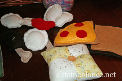 Felt Food for Kids: Toast, Pizza Slice, and Turkey Drumsticks
