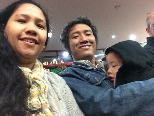 Ketiduran di gereja (kebaktian malam Natal)