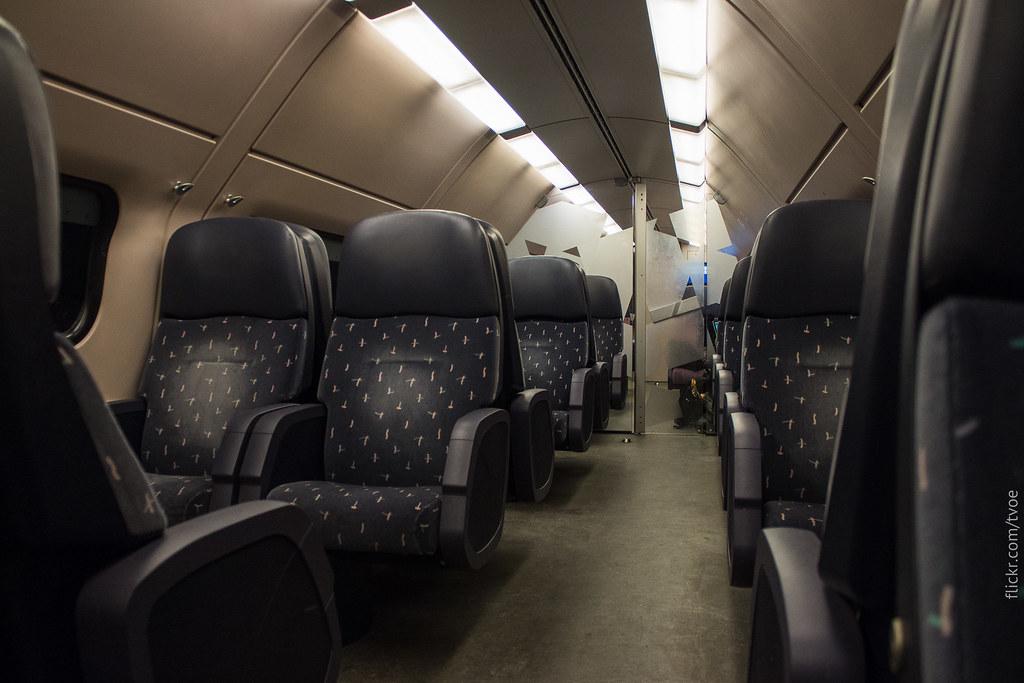 Тихий вагон в междугороднем поезде Нидерландов