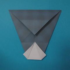วิธีการพับกระดาษเป็นรูปนกเค้าแมว 012