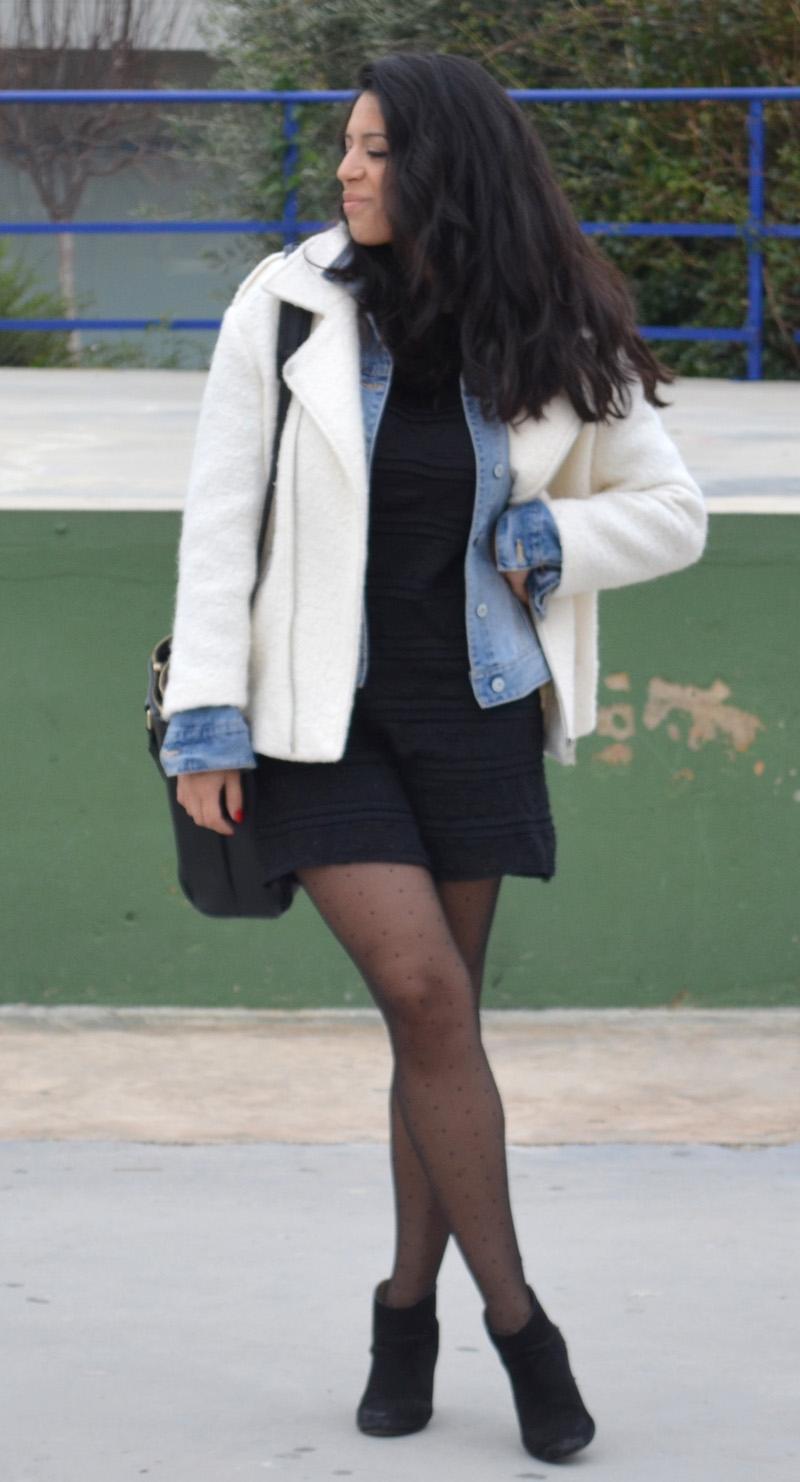 chaqueta de fieltro blanca medias de punto florencia blog