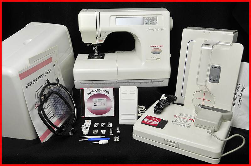 janome memory craft 5700 embroidery machine