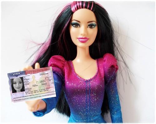 Barbie's visa to the USA :)