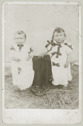 Cabinet Card Two toddlers