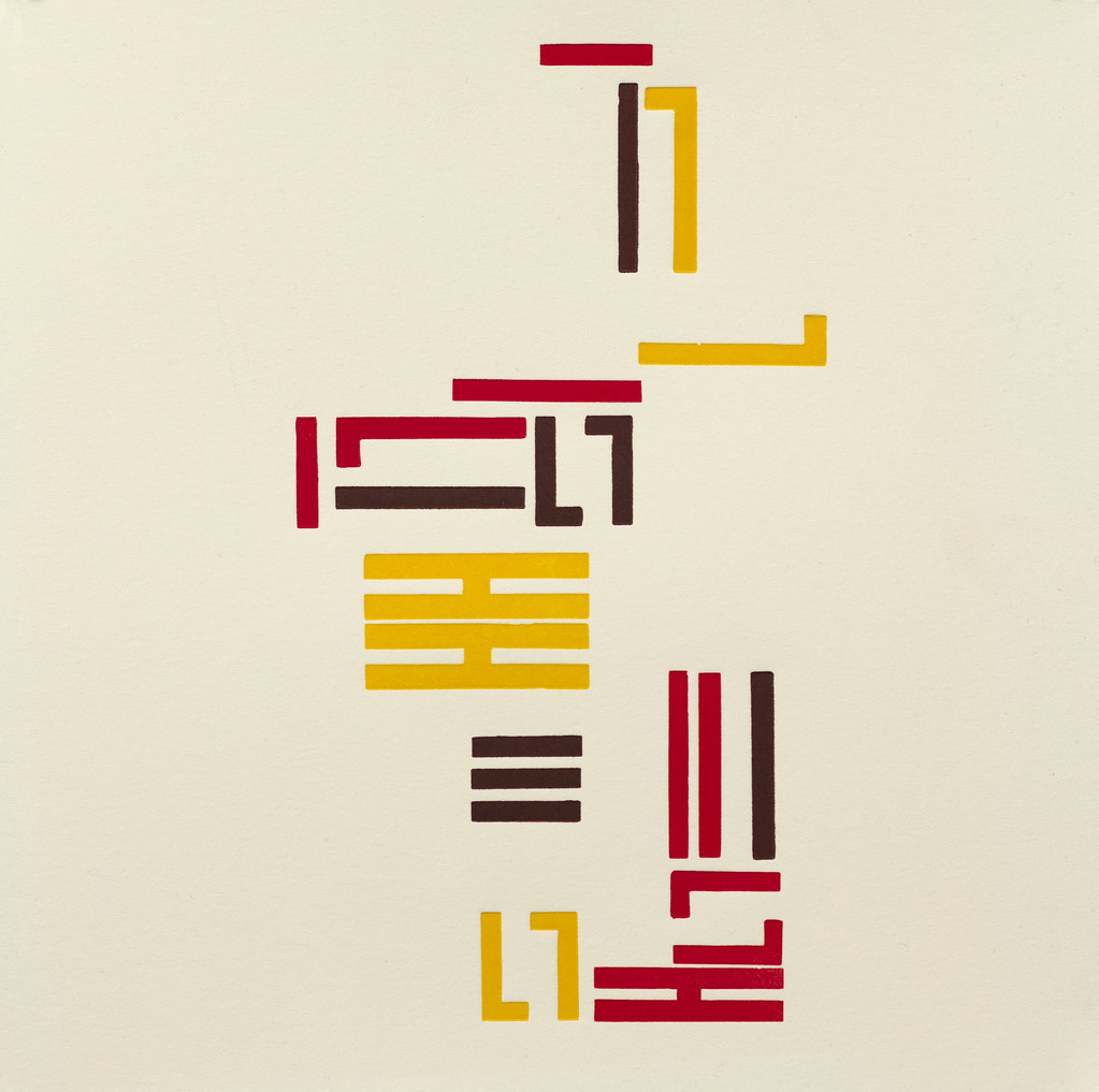 "David Cestelli Letterpress Abstracts 8"" x 8"" Letterpress 2012"