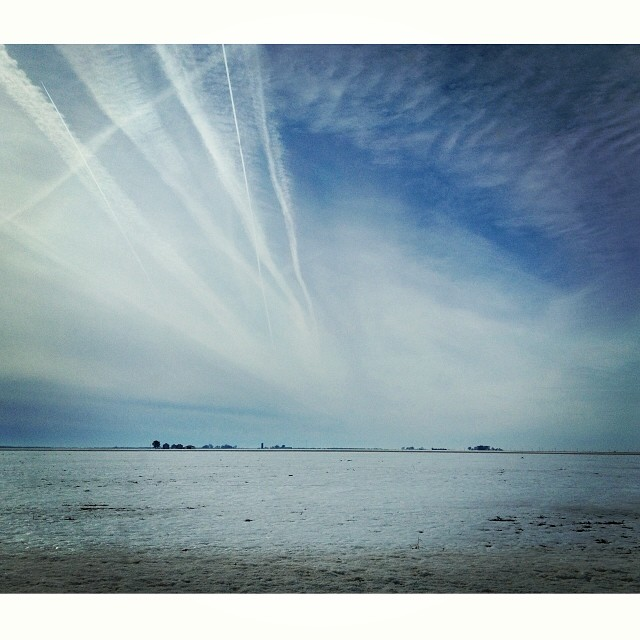 Cloud Cover #latergram #sky #clouds #prairie Taken yesterday, before the big thaw