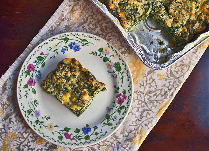 Sephardic Spinach Pie via LittleFerraroKitchen.com