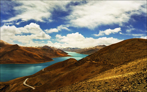 One of my favorites - Yamdrok Tso (Turquoise) Lake, Tibet (April 2000)