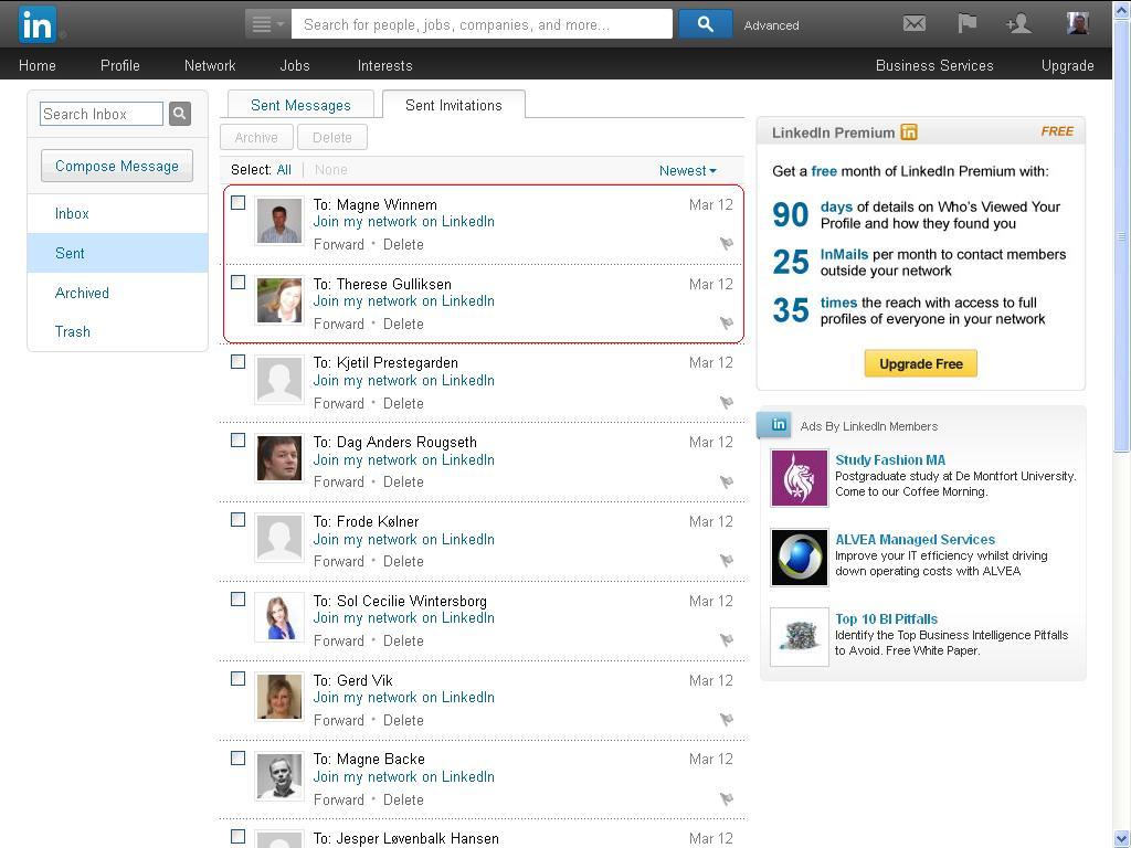 fant et par til på LinkedIn