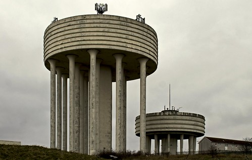 Water Tower and Reservoir, Garthamlock, Glasgow, Scotland