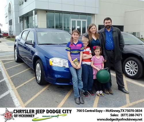 Congratulations to Ephraam And Jessica Price on your #Dodge #Avenger purchase from Carlos Sisk at Dodge City of McKinney! #NewCar by Dodge City McKinney Texas