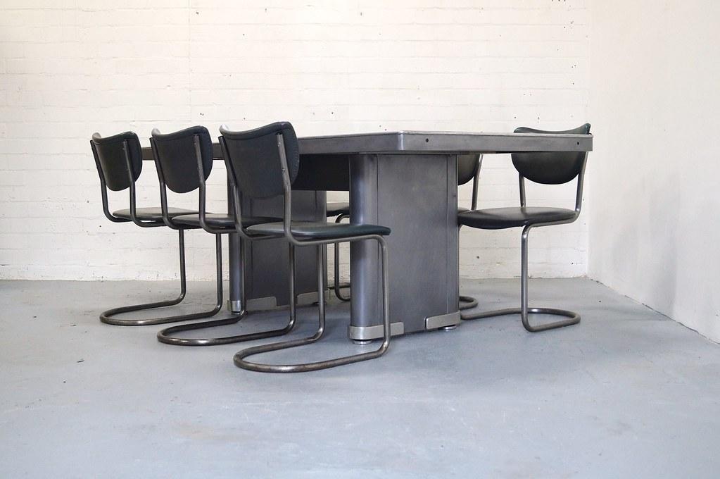 Dutch Design Tafel : Industriele ahrend oda eminent tafel vintage jaren du flickr