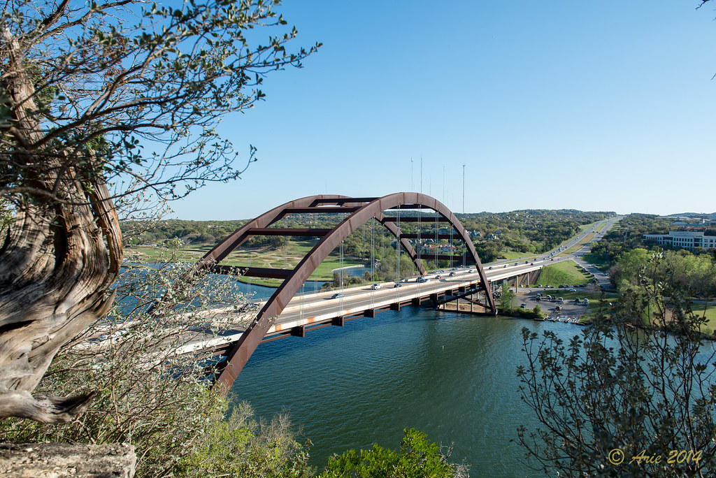 The Pennybacker Bridge in Austin, Texas
