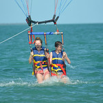 Lauren and Buck Parasailing