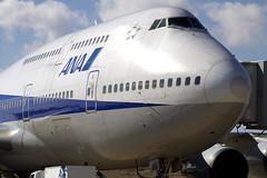 ANAのB747-400「卒業フライト」を福島空港で撮影する