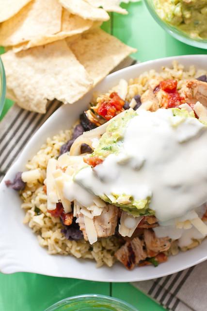 Grilled Fajita Chicken Burrito Bowls