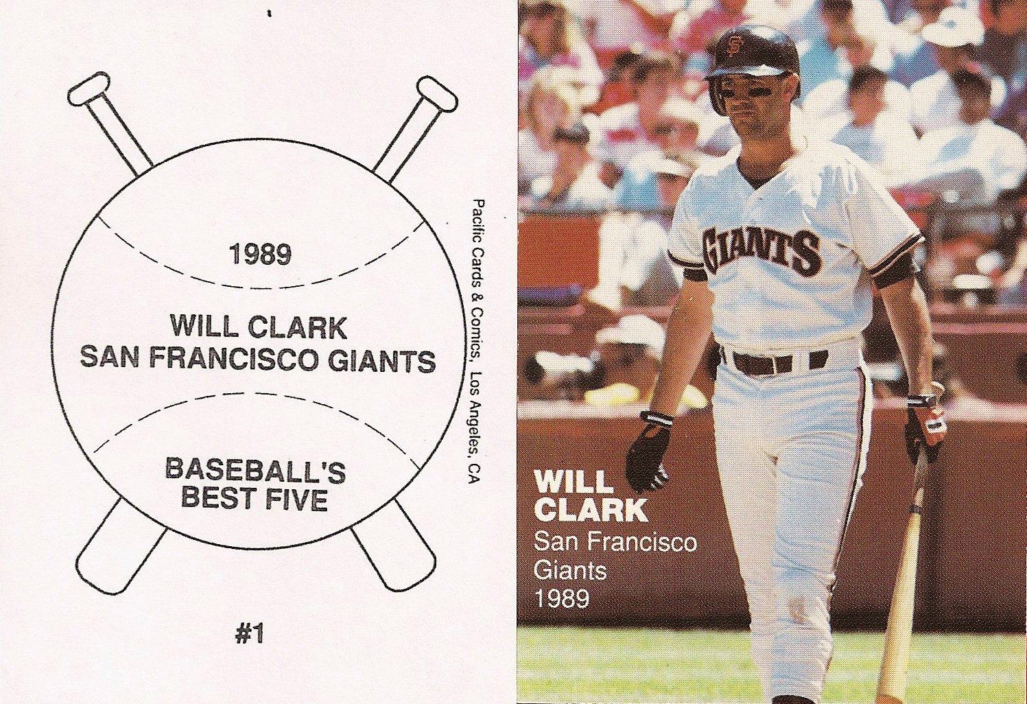 1989 Pacific Cards & Comics Baseballs Best Five