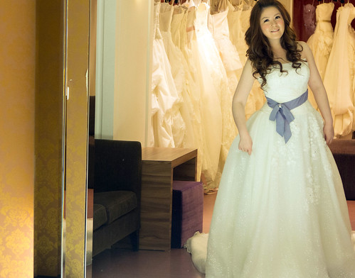 豐腴女孩也能挑到漂亮婚紗5