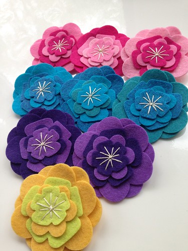 Felt hair clips collection 2014