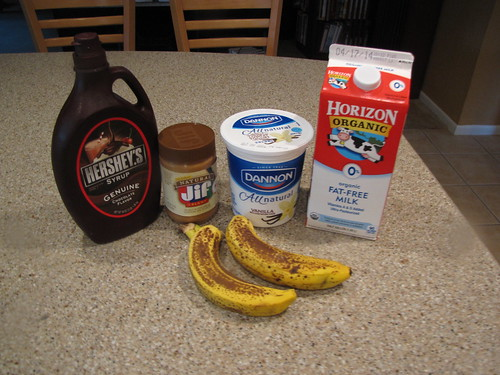Peanut Butter Banan Smoothie Ingredients