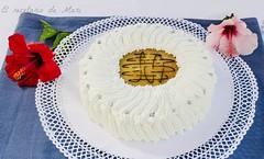 Tarta de crema de piña con bizcocho de frutos secos1