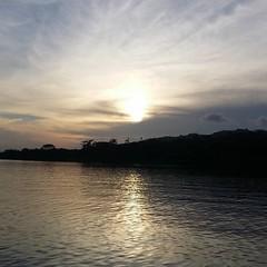 #sunset at bayano Lake