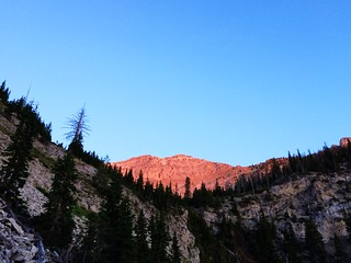 Sunrise on Headquarters Pass during the 53-mile Run Across The Bob
