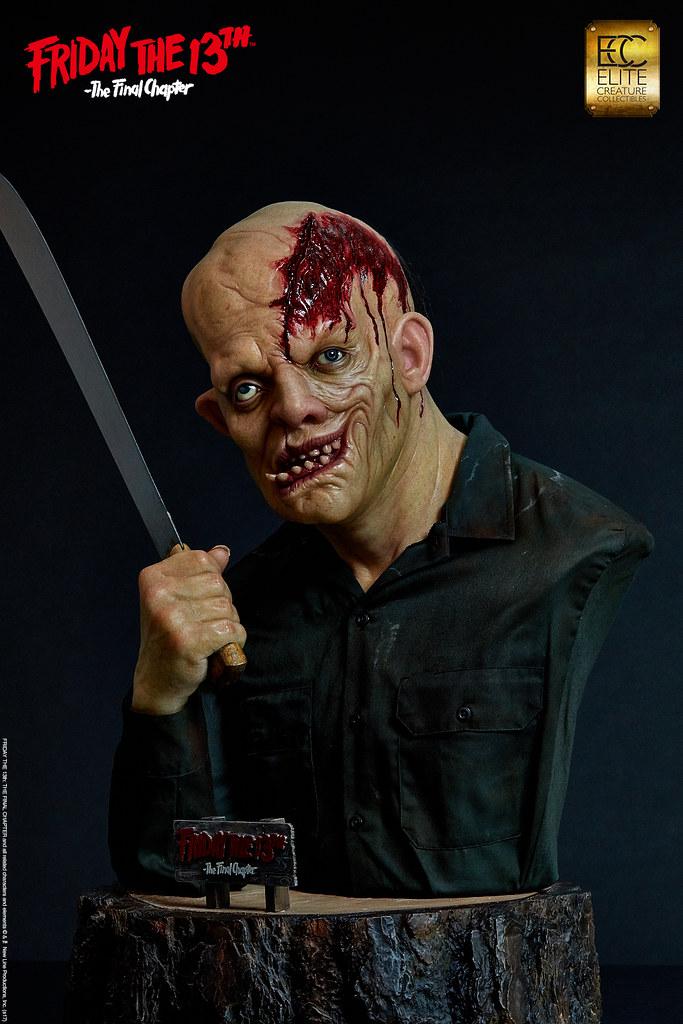 罕見的真面目公開!ECC - 《十三號星期五4:終結篇》傑森‧沃西 1:1 胸像 Friday the 13th: The Final Chapter - Jason Voorhees