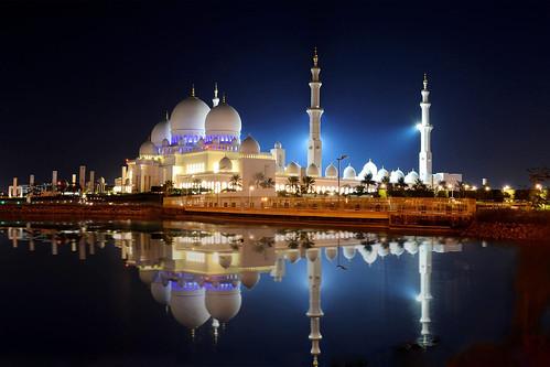 uae architecture religion nightview lights