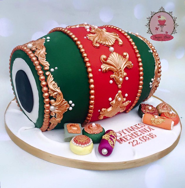 Indian Drum Cake from Sugar Dust by Amina