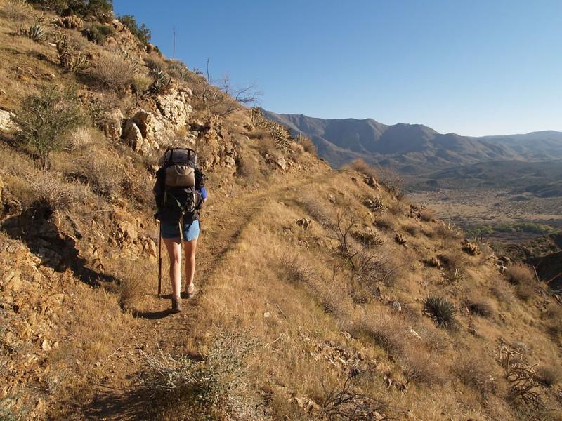 PCT San Felipe Hills - gradually descending toward Route 78