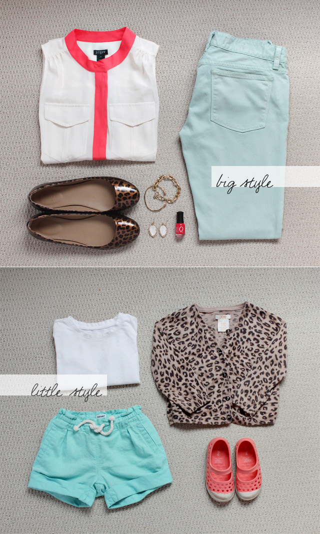 Big / Little Style: Mint, Leopard, Coral