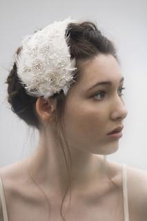 feather bridal headpiece