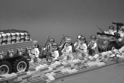 The 442nd Moves Out (B&W)