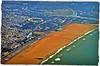 Marina beach - Chennai- aerial view