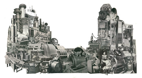 Collage Art by Morgan Jesse Lappin (Brooklyn, NY): The Machine II
