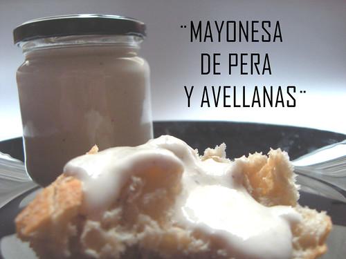 mayonesa de pera y avellanas