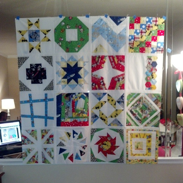 Finished the quilt top! #quilting #sewing #samplerquilt