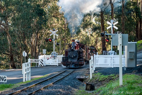 Puffing Billy at Selby Crossing