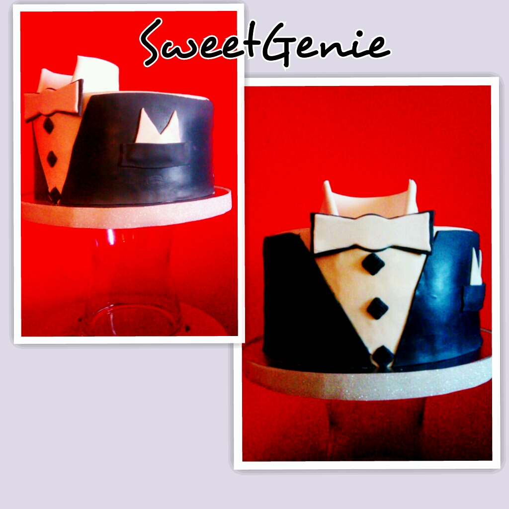 suit and bow tie cake   Birthday cake   Sweet Genie   Flickr