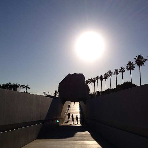 Levitated Mass in shadow. #latergram