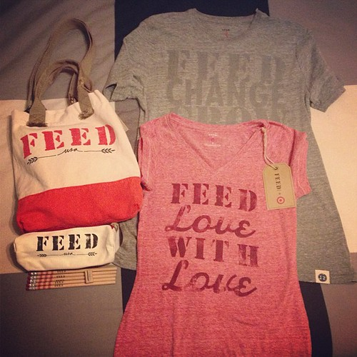 With this purchase we provided 51 #meals to children and families across #America. Best #Target campaign yet! #feed #merica #give #help #feedlovewithlove #feedchangegrow. Men tee, woman tee, cross body bag, pencil case w five pencils and a sharpener. #fee