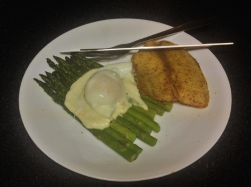 Egg and Asparagus with Tilapia