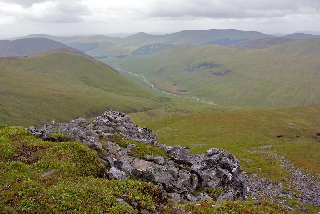View into Gleann Taitneach from Carn Bhinnein