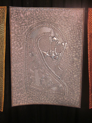 """Odin's Trilogy"" by Linzi Upton, close up of silver"