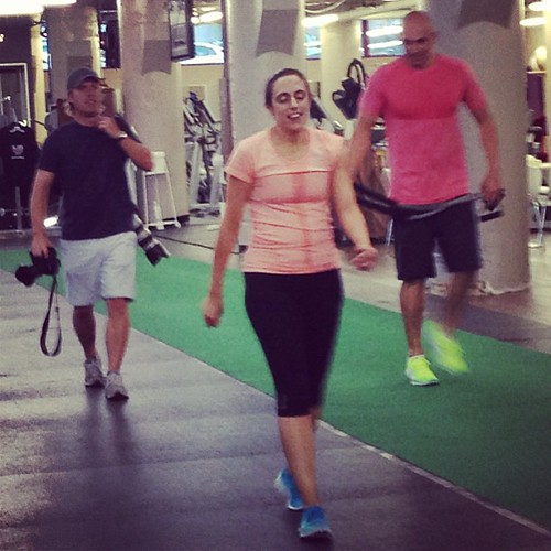 Working out with paparazzi and a guy with boobs as big as ours... Kind of a big deal. #GetFly #latergram