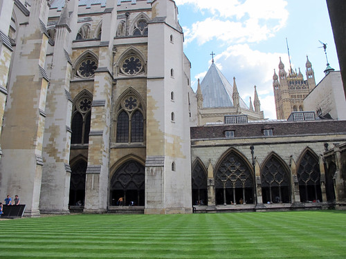 courtyard of Westminster Abbey