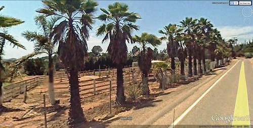 view of the site from West Valley Road (via Google Earth)