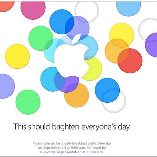 The most awaited Apple event on 10 September 2013 - it will brighten everyone's day #iphone5S #iPhone5C #iPad5 #ios7 #webstagram yippie ; )